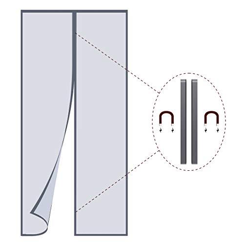 Philorn Magnet Fliegengitter Insektenschutz Magnetvorhang für Türen 40