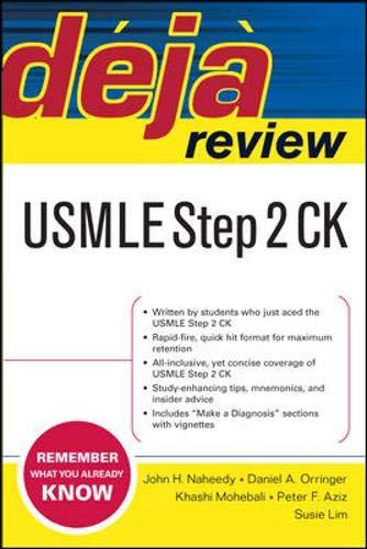 Deja Review USMLE Step 2 CK: USMLE Step 2 Essentials (Total Recall Series)