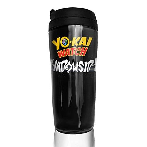 DJNGN Yokai Watch - Tazas de viaje, tazas de viaje, vasos para café con tapas, 12 oz