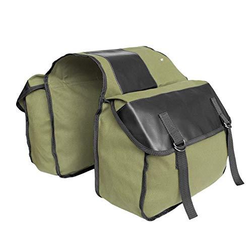 MDSTOP Bike Pannier Bag, Motor Bicycle Rear Seat Carrier Bag Bicycle Truck Bag (Green)