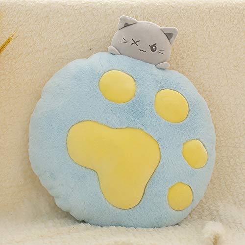 N / A Hot Plush Cat Toys Peluches y Juguetes de Peluche Soft Cat Pillow Relleno Cat Doll para niños Chica Regalo Sofá Almohada Cojín 35x40CM
