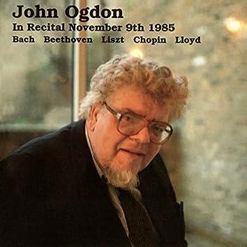 John Ogdon Live in Recital, November 9th, 1985