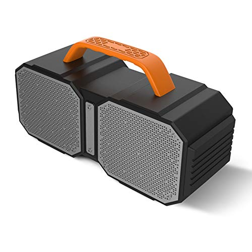 JUNPE Altavoz Bluetooth Altavoz portátil al aire libre al aire libre Altavoz Bluetooth con subwoofer incorporado 40W Estéreo inalámbrico de alta fidelidad Altavoz de alta fidelidad Durable para el hog