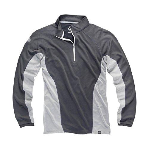 Gill i2 Mens Long Sleeve Zip Neck - Ash/Silver XS