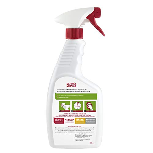 Nature's Miracle P-98222 Bird Cage Cleaner, Cleans & Deodorizes, Removes Tough Caked-On Debris, White,24 fl oz