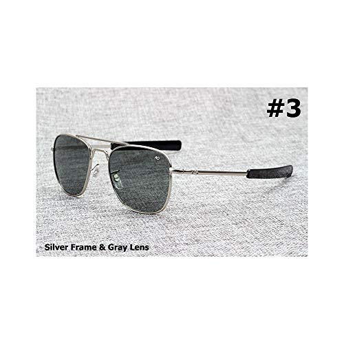 WEIHAOQIANG ArmyPilot 54mm Sunglasses American Optical Glass Lens Sun Glasses