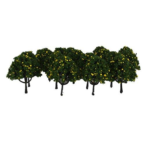 Lot 20 Yellow Fruits Tree Model Train Farm Orchard Diorama Scenery HO OO 6cm