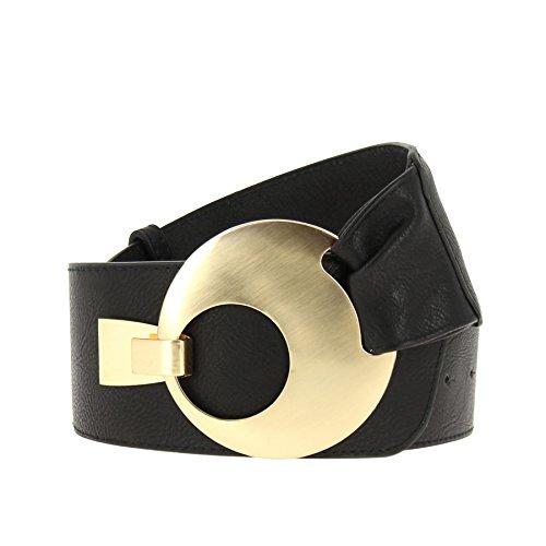 FASHIONGEN - Cinturón ancho para mujer VANESSA - Nero (Oro), XL a XXL / pantaloni da 45 a 55