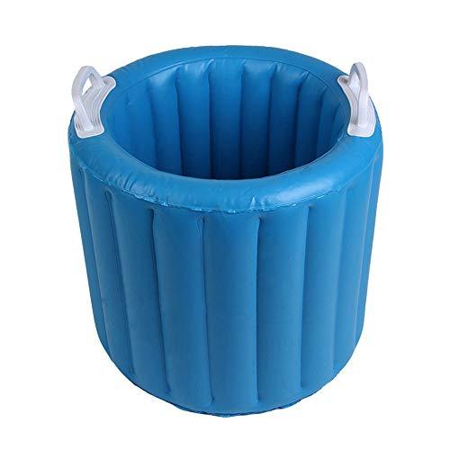 WJQ Faltbare aufblasbare Eimer-tragbare Plastikbadewanne-Produkte im Freien Haltbares und bequemes auslaufsicheres Licht tragbar mit Raumersparnis für im Freien und Innen
