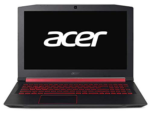 "Acer Nitro 5 | AN515-52 - Ordenador portátil Gaming de 15.6"" FHD (Intel Core i7-8750H, 8 GB RAM, 1 TB HDD, 128 GB SSD, Nvidia GeForce GTX 1050 4GB, Windows 10 Home) Negro - Teclado QWERTY Español"