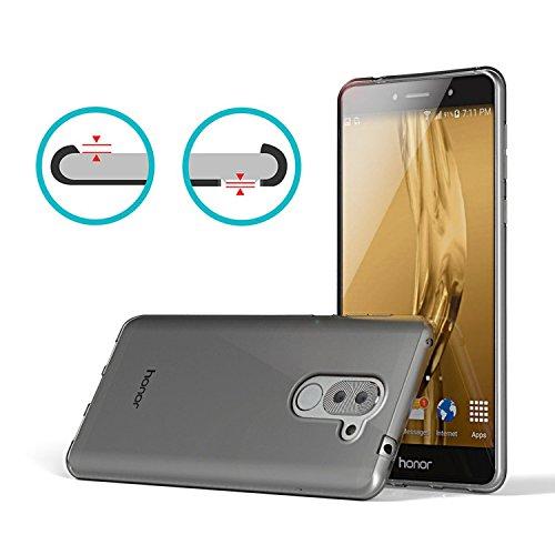 Huawei Honor 6X Hülle, Lanseed Crystal Clear Silikon Schutzhüle für Huawei Honor 6X Case TPU Bumper Cover Hülle Transparent - 3