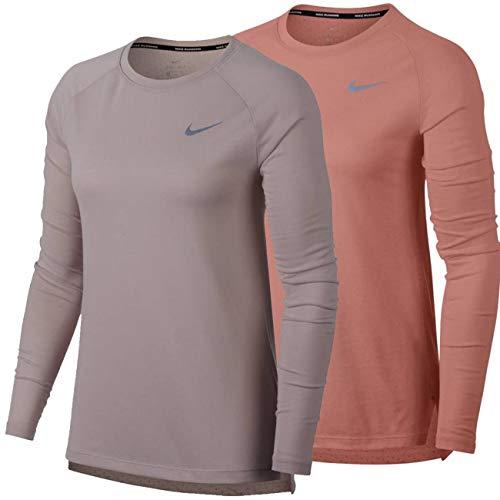 NIKE W Nk Tailwind LS Camiseta, Mujer, Rosa, L