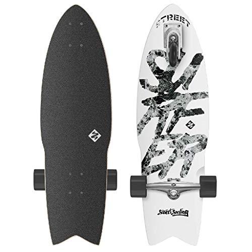 Street Surfing Pumping Longboard Komplettboard Shark Attack 76 cm GREAT WHITE