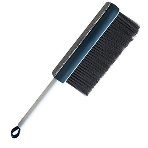 SOLUSTRE Cepillo de Limpieza de Cama para Sofá Mesa Silla Cama de Coche Paño de Eliminación de Polvo de Pelo Limpiador de Ropa para Mascotas Removedor de Pelusas Azul