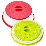 HJFH Cubierta para microondas plegable de 28 cm, tapa para microondas para...