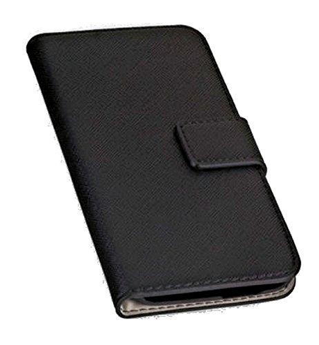 Book Style Handy Tasche - NAS. - für Wiko Kite - Cover Case Schutz Hülle Etui Schutzhülle in der Farbe Schwarz - (Bulk)