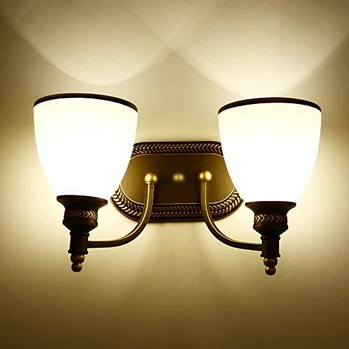 Zzaoxin LED retro lámpara de pared negro blanco porche pasillo comedor sala dormitorio estudio escaleras balcón luz amarillo simple hierro Ceram