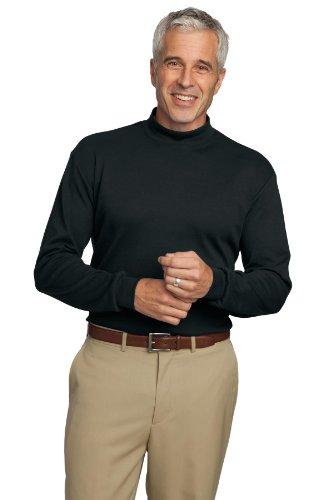 Port Authority Men's Interlock Knit Mock Turtleneck XL Black