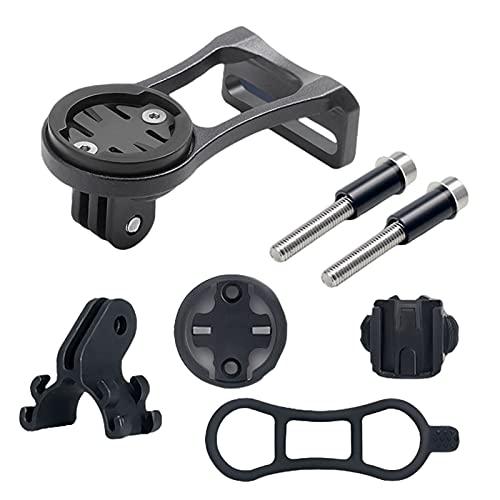 Soporte de bicicleta para cámara giratoria para teléfono móvil, resistente, multifunción, abrazadera para bicicleta, compatible con la mayoría de cámaras, smartphones, cámaras de acción (negro)