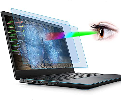 2-Pack 15.6 Inch Anti Blue Light Screen Protector for Dell G3 G5 G7 15.6'| Dell Inspiron 15 5000 7000 | Dell Latitude 15.6 Laptop Anti Blue Light Eye Protection Screen Filter Anti Glare Blocking Cover