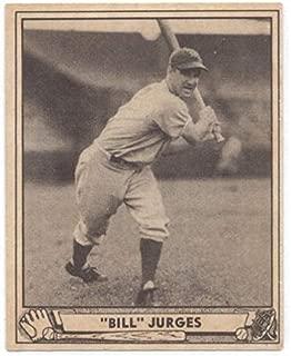 1940 Play Ball #89 Billy Jurges NY Giants MLB Baseball Card VG Very Good