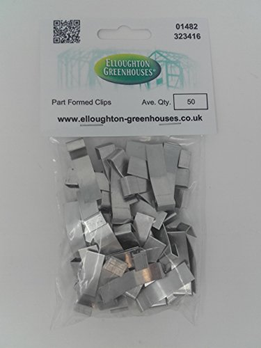 50 Part Formed Greenhouse Overlap Glazing Clips