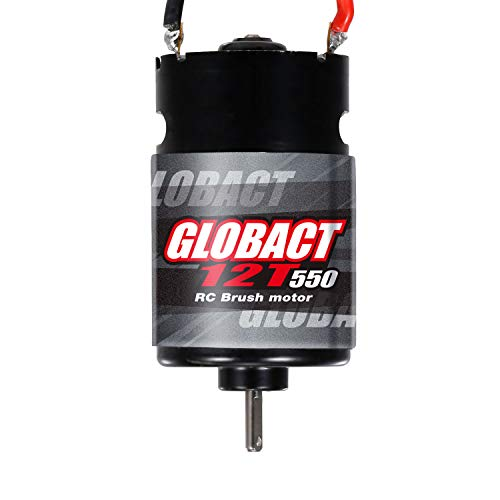 Globact Rc Motor 550 12T Brushed Motor for 1/10 RC Scale Electric Short Course Truck car Traxxas Slash 2WD/4WD Redcat ARRMA AXIAL HSP HPI Wltoys Kyosho HELION 10SC