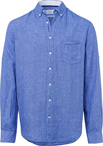 BRAX heren stijl linnen hemd vrijetijdshemd
