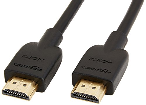 AmazonBasics High-Speed, Ultra HD HDMI 2.0 Cable, Supports 3D Formats and with Audio Return Channel, 0.9 m