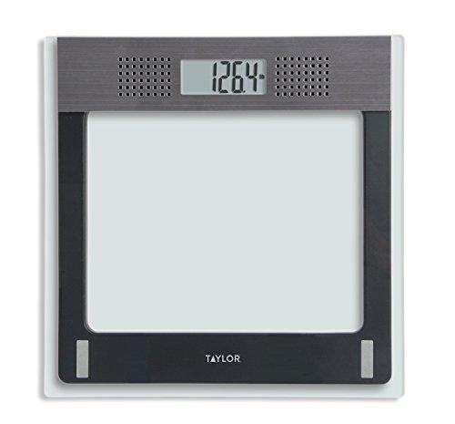 Taylor Electronic Glass Talking - Báscula de baño (cristal, capacidad de 400 libras)