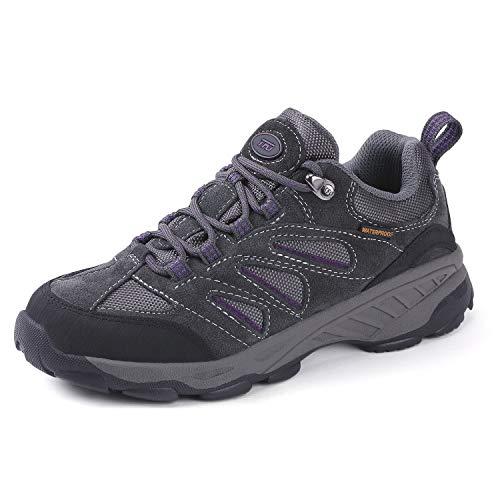 TFO Damen Trekking & Wanderschuhe Atmungsaktive Walkingschuhe Sport Outdoor Schuhe mit Gedämpfter Sohle, Hellgrau, 38 EU