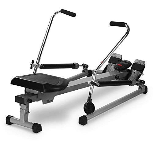DSHUJC Máquina de Remo, máquina de Remo Multifuncional Scull, Entrenamiento de Fitness Body Tonner Home Gym Training, con Monitor LCD, f