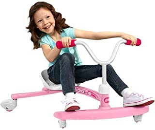 Adjustable Seat Grows with Child, Ziggle Ride-On, Pink