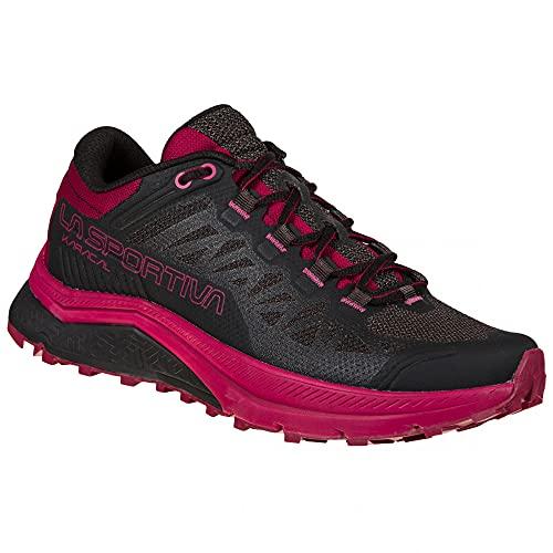 LA SPORTIVA Karacal Woman, Zapatillas de Trail Running Mujer, Black/Red Plum, 37.5 EU