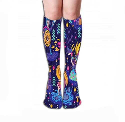 zexuandiy Hohe Socken High Socks Novelty Compression Long Socks 19.7