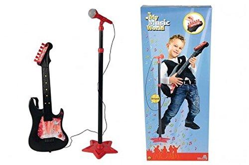 Simba 106833223 - My Music World Gitarre mit Standmikrofon 70-130 cm