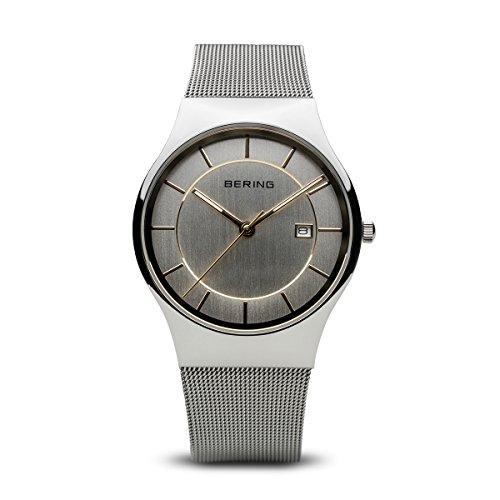 BERING Reloj Analógico para Hombre de Cuarzo con Correa en Acero Inoxidable 11938-001
