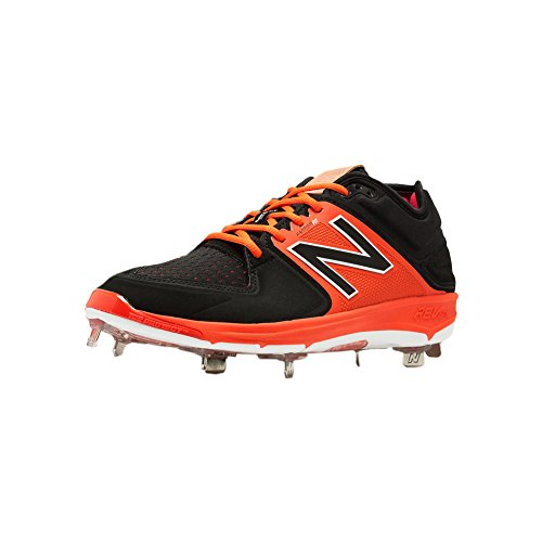 New Balance LowCut 3000v3 Mens Cushioning Metal Baseball Cleat 16 Black-Orange