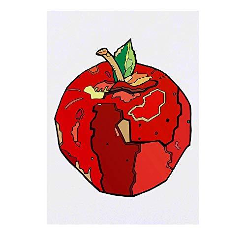 Azeeda Grand 'Pomme Rouge' Tatouages temporaires (TO00031599)