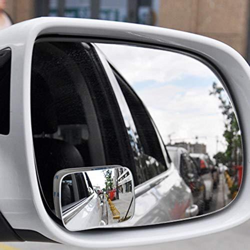 Toter Winkel-Spiegel, HD-Glas, konvexe Linse, rahmenlos, verstellbar, für alle allgemeinen Zwecke, Fahrzeugdesign (2 Stück)