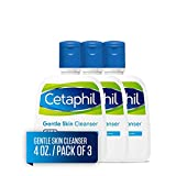 Cetaphil Gentle Skin Cleanser, 4 Ounce (Pack of 3)