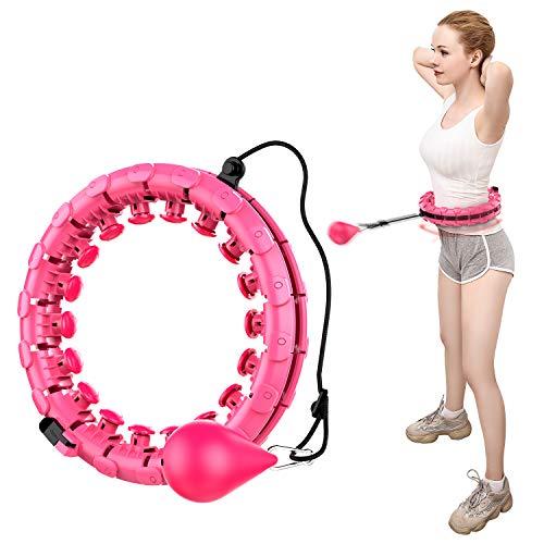 ShinePick Hullahub Reifen, Niemals Fallen Hula Reifen, Einstellbar Breit Fitnessreifen, Fitness Hoop mit Massagenoppen zur Gewichtsabnahme, für Erwachsene Jugendliche Anfänger