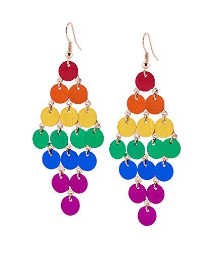 SIX Ohrringe: Pride Ohrschmuck, Regenbogen, Ohrhänger für Kostüm Karneval Fasching (761-796)