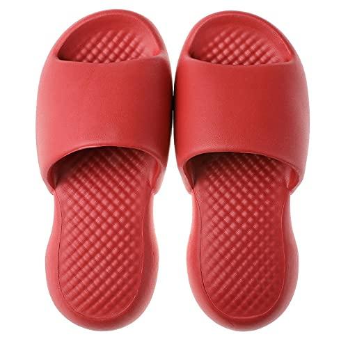 WENHUA Zapatillas Anti-frías de Masaje Ultraligero Ms.Soft, Red Wine_35-36