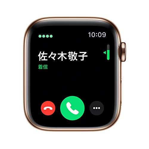 AppleWatchSeries5(GPS+Cellularモデル)-44mmゴールドステンレススチールケースとゴールドミラネーゼループ