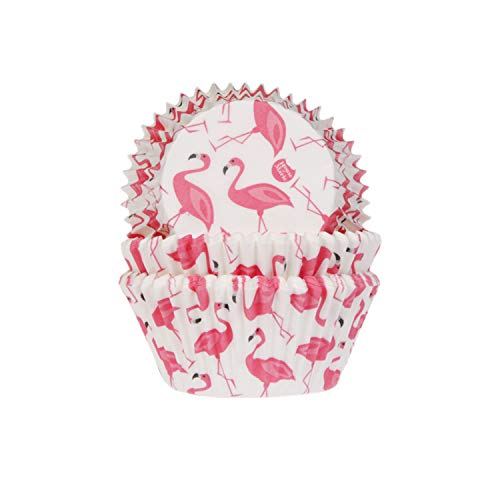 House of Marie 50 Muffinförmchen Flamingo | Aloha | Sommer | aus Papier |