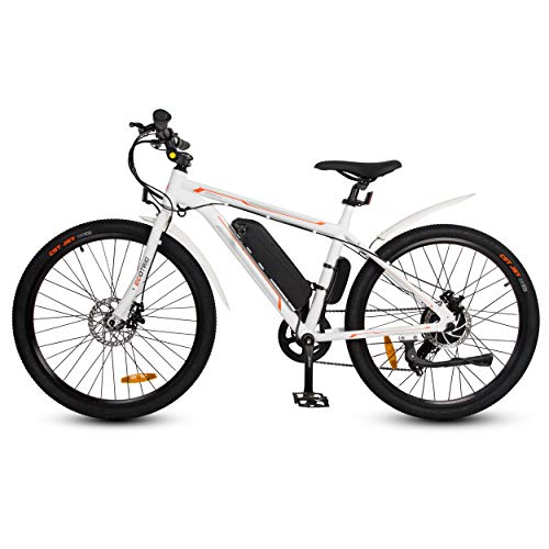 ECOTRIC 26' Ebike Electric City Bicycle Bike 350W 36V/9AH Removable Lithium Battery Assist Disc Brake System Throttle&Pedal (White)
