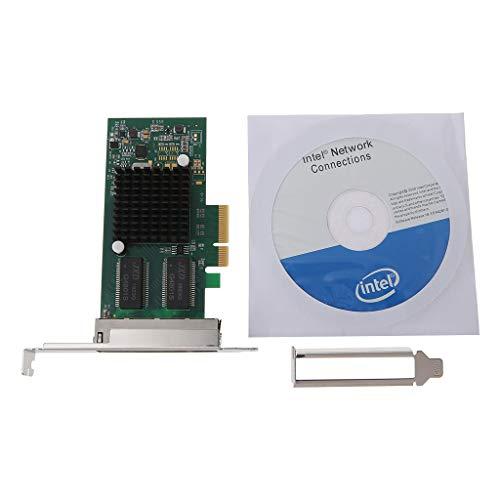 Ontracker Int-EL I350-T4-QY - Adaptador de servidor PCI-Express PCI-E con cuatro puertos Gigabit RJ45 NIC