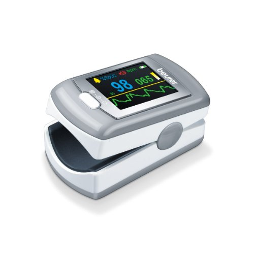 Beurer PO 80 Pulsossimetro con Funzione di Registrazione Dati 24 h, Funzione Allarme e Batteria al Litio
