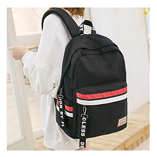 Nylon Large Student School Backpack Bag, Cute Girls Backpack Bookbag For School College Student, High School College Backpack For Girls, Daypack Bookbags Rucksack For Girls Ladies Women(Black)